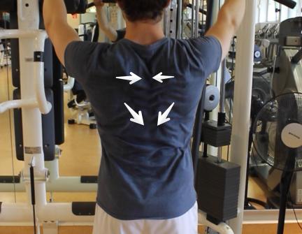 Schulterblätter nach hinten unten zusammenziehen - Rudern: Die richtige Übungsausführung für Kabelzug, Langhantel & Kurzhantel